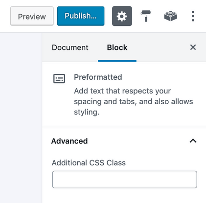 sidebar-settings-preformatted-block