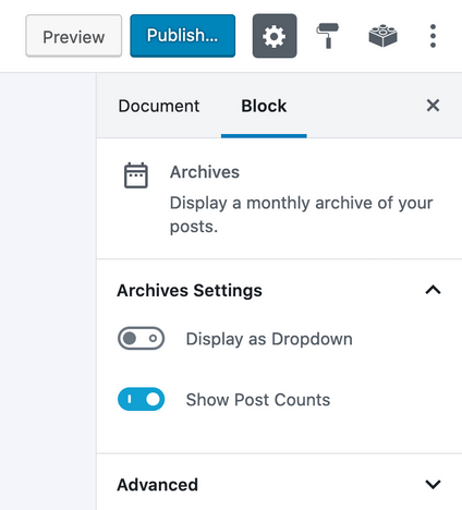 archives-block-sidebar-settings