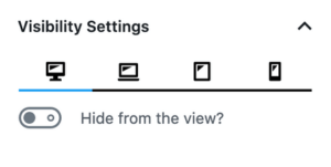 spacer-block-visibility-settings