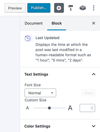 last-updated-block-sidebar-settings